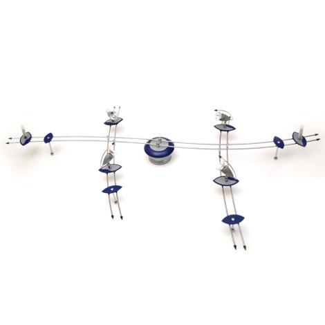 Eglo 80595 - Bodové svietidlo DRIVE 4xMR16/35W + 3xG4/20W