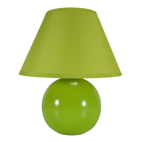 Eglo 80719 - Stolná lampa TINA 1xE14/40W/230V zelená