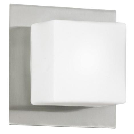 EGLO 83554 - Nástenné stropné svietidlo BLOC 1xG9/40W matný nikel / opál