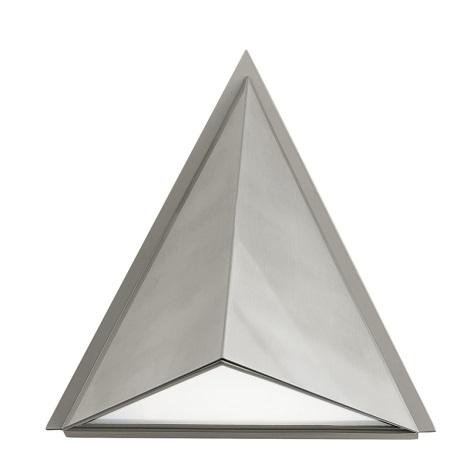 EGLO 83758 - vonkajšie nástenné svietidlo TRIGO 1xE27/100W stříbrná / biela