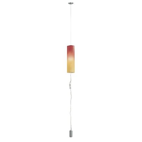 EGLO 83787 - luster MOBILE 1 1xE27/100W nikel/červ/oranž