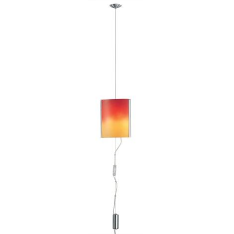 EGLO 83789 - luster MOBILE 2xE14/60W nikel/červ/oranž