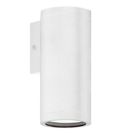 Eglo 84001 -  Vonkajšie nástenné svietidlo RIGA 1xGU10/50W/230V biela