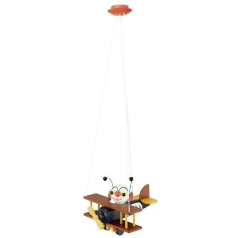 Eglo 85059 - Detské závesné svietidlo AIRMAN E27/15W/230V