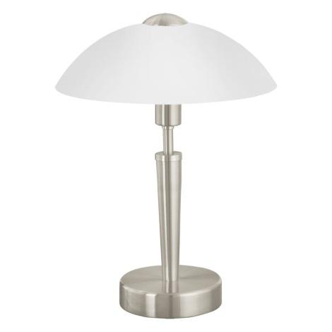 EGLO 85104 - Stolná lampa SOLO 1 1xE14/60W/230V matný nikel/satén
