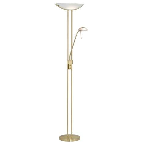 EGLO 85973 - Stmievateľná stojaca lampa BAYA 1xR7s/230W+1xG9/33W matná zlatá