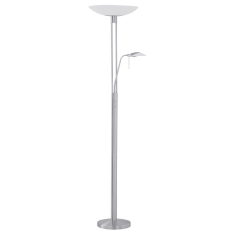 EGLO 86573 - Stojanová lampa TAMPA 1xR7s/300W matný nikel / satén