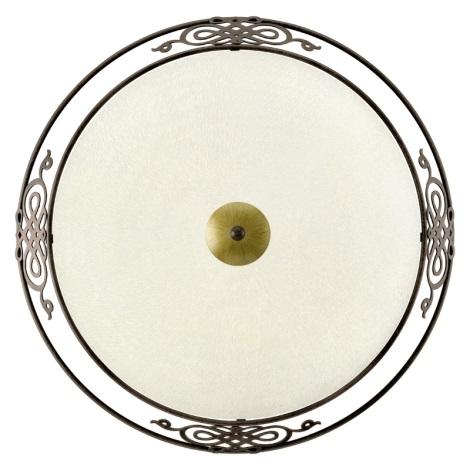EGLO 86713 - Nástenné stropné svietidlo MESTRE 3xE27/60W antická hnedá / zlatá