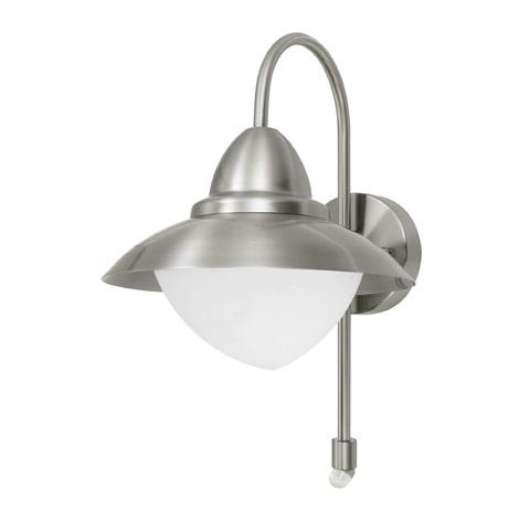 EGLO 87105 - Senzorové vonkajšie nástenné svietidlo SIDNEY 1xE27/60W