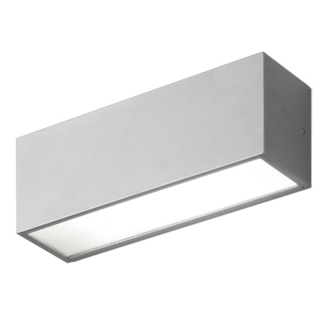 EGLO 87138 - vonkajšie nástenné svietidlo CINEMA 1xG23/11W stříbrná / biela
