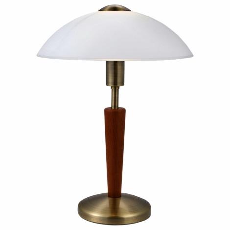 EGLO 87256 - Stolná lampa SOLO 1 1xE14/60W orechovina