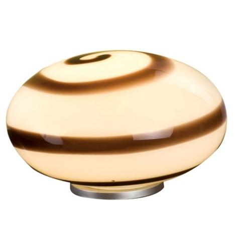 EGLO 87282 - Stolná lampa NARO 1xE27/60W hnedá / biela
