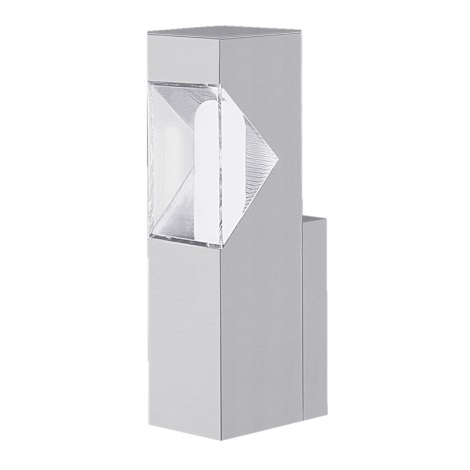 EGLO 87285 - vonkajšie nástenné svietidlo SAO PAULO 1xE27/15W stříbrná