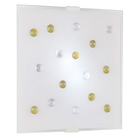 EGLO 87311 - Nástenné stropné svietidlo SANTIAGO 1 2xE14/40W žltá/biela