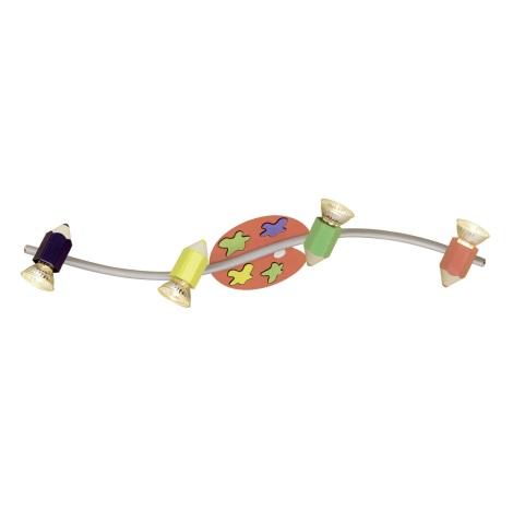 EGLO 87356 - Detské bodové svietidlo JOLLY 4xGU10/50W