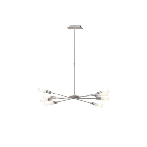 EGLO 87976 - luster SAMANTA 8xE14/9W matný nikl/biela