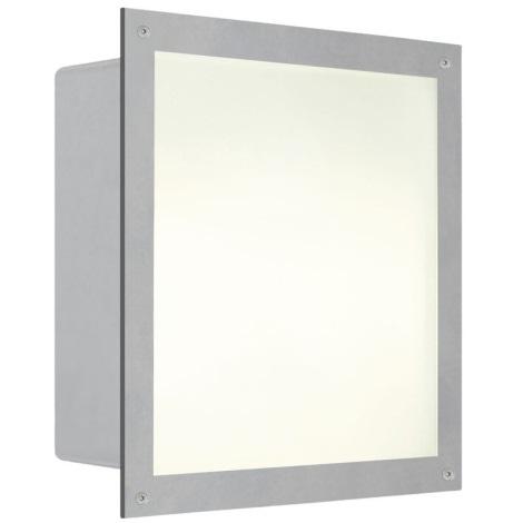 EGLO 88009 - Vonkajšie podhľadové svietidlo ZIMBA 1xE27/100W strieborná/biela