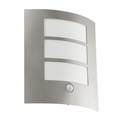 EGLO 88142 - Senzorové vonkajšie nástenné svietidlo CITY 1xE27/15W