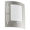 EGLO 88144 - Senzorové vonkajšie nástenné svietidlo CITY 1xE27/15W/230V IP44