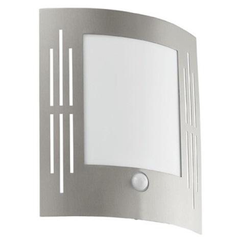 EGLO 88144 - Senzorové vonkajšie nástenné svietidlo CITY 1xE27/15W