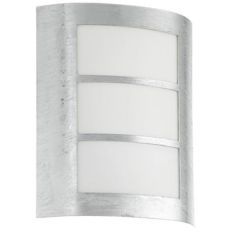 EGLO 88487 - vonkajšie nástenné svietidlo CITY 1xE27/15W galvanizovaná oceľ