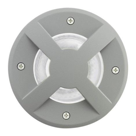 EGLO 88558 - vonkajšia bodové svietidlo RIGA 3 1xGU10/9W stříbrná