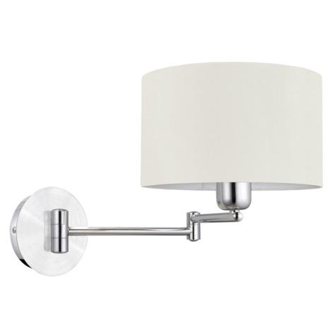 EGLO 88563 - nástenné svietidlo HALVA 1 x E27/60W biela