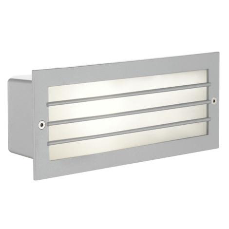 EGLO 88576 - Vonkajšie nástenné svietidlo ZIMBA 1xE27/60W stříbrná/biela