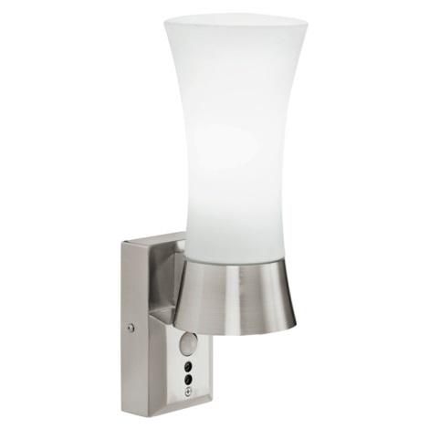 EGLO 88726 - nástenné svietidlo s čidlom WALL STREET 1xE27/60W biela
