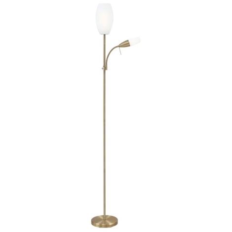 EGLO 88964 - Stojanová lampa CENA 1xE27/15W + 1xE14/9W bronz