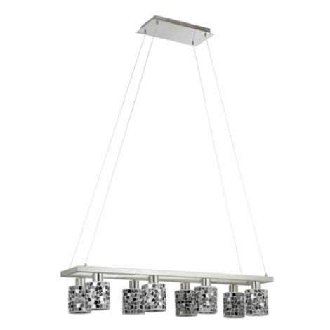 EGLO 89054 - luster DIEGO 1 8xE14/40W čierna/stříbrná/biela
