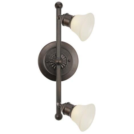 EGLO 89058 - bodové svietidlo ALAMO 2xG9/40W tmavá hnedá/béžová