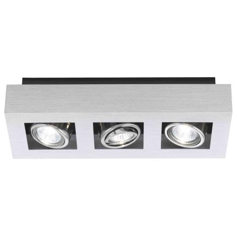 EGLO 89077 - Bodové svietidlo LOKE 3xGU10/35W/230V