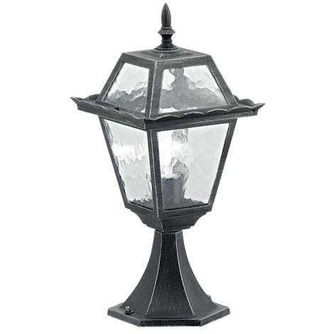 EGLO 89234 - vonkajšia lampa ABANO 1xE27/100W čierna/stříbrná patina