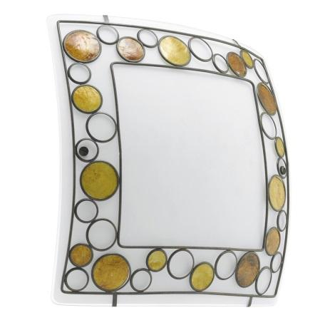 EGLO 89324 - Nástenné stropné svietidlo TOLEDA 2xE27/60W biela/hnedá/oranžová