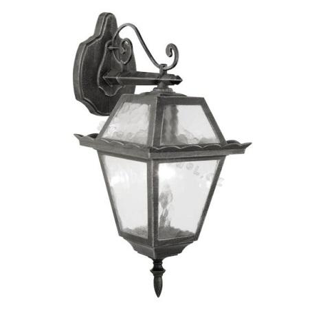 EGLO 89349 - vonkajšie nástenné svietidlo ABANO 1xE27/100W čierna/stříbrná patina