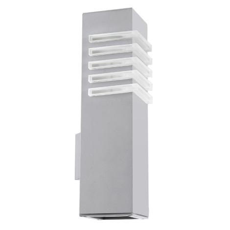 EGLO 89445 - vonkajšie nástenné svietidlo LUTON 1xE27/22W + 1xGU10/9W