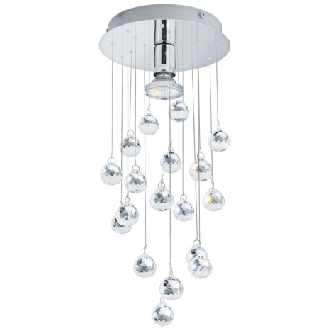 Eglo 89527 - Krištáľové stropné svietidlo LUXY 1 1xGU10/50W/230V