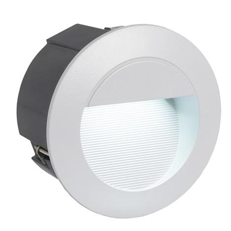 EGLO 89543 - vonkajšia LED svietidlo ZIMBA LED 1xLED/1,05W stříbrná