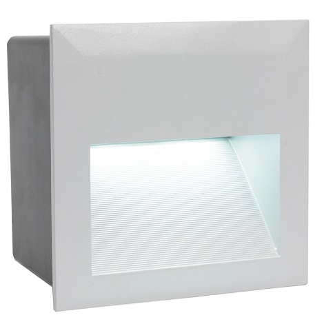 EGLO 89545 - vonkajšia LED svietidlo ZIMBA LED 1xLED/1,35W stříbrná
