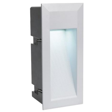 EGLO 89546 - vonkajšia LED svetlo ZIMBA LED 1xLED/1,35W stříbrná