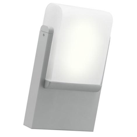 EGLO 89576 - vonkajšie nástenné svietidlo CARACAS 1xE27/22W stříbrná
