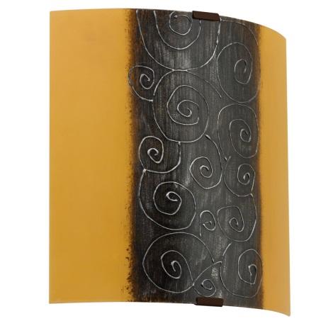 EGLO 89684 - nástenné svietidlo LARA 1 x E27/60W biela/hnedá/oranžová