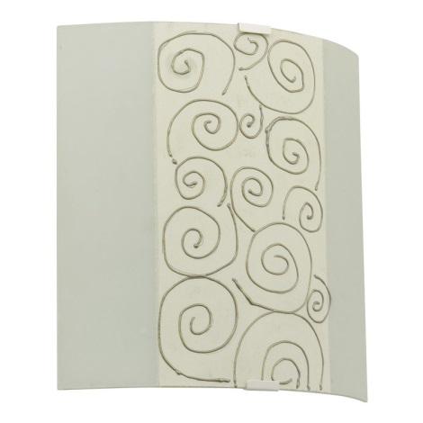 EGLO 89686 - nástenné svietidlo LARA 1 x E27/60W biela/béžová/zlatá