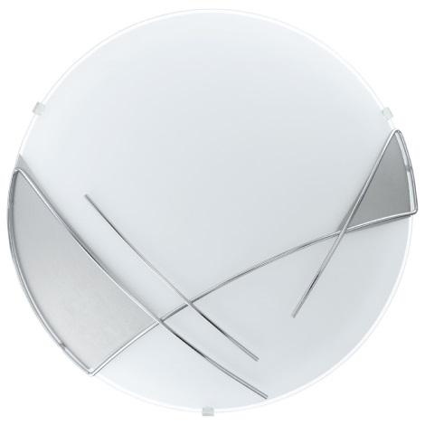 EGLO 89758 - Nástenné stropné svietidlo RAYA 1 x E27/60W stříbrná / biela