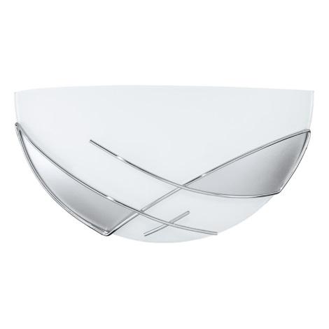 EGLO 89759 - nástenné svietidlo RAYA 1 x E27/60W stříbrná / biela
