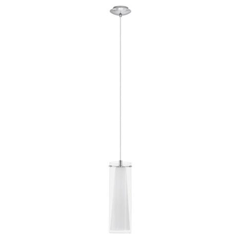 EGLO 89832 - luster závesný PINTO 1 x E27/60W biele opálové sklo