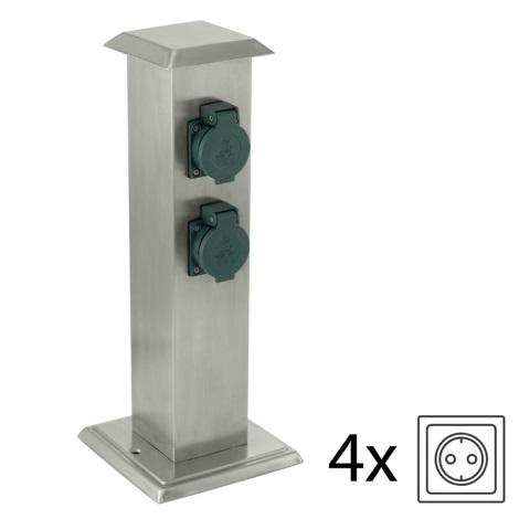 EGLO 90748 - vonkajšia zásuvkový stĺpik park 4 zelená