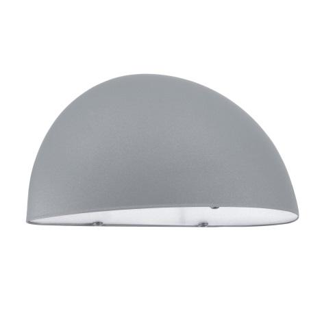 EGLO 90866 - vonkajšie nástenné svietidlo LEPUS 1xE27/40W stříbrná / biela