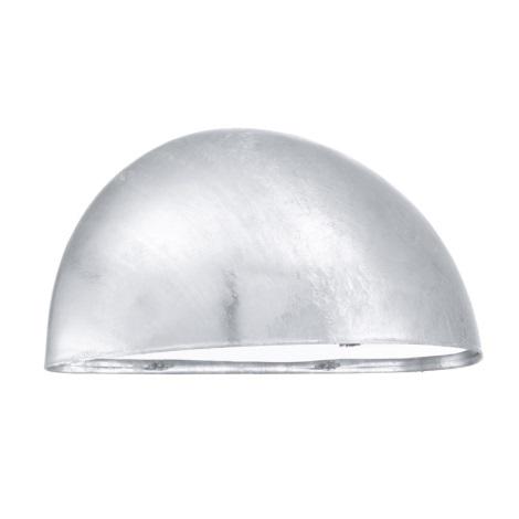 EGLO 90867 - vonkajšie nástenné svietidlo LEPUS 1xE27/40W galvanizovaná oceľ
